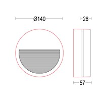 Verso Flat R RD Glass 140
