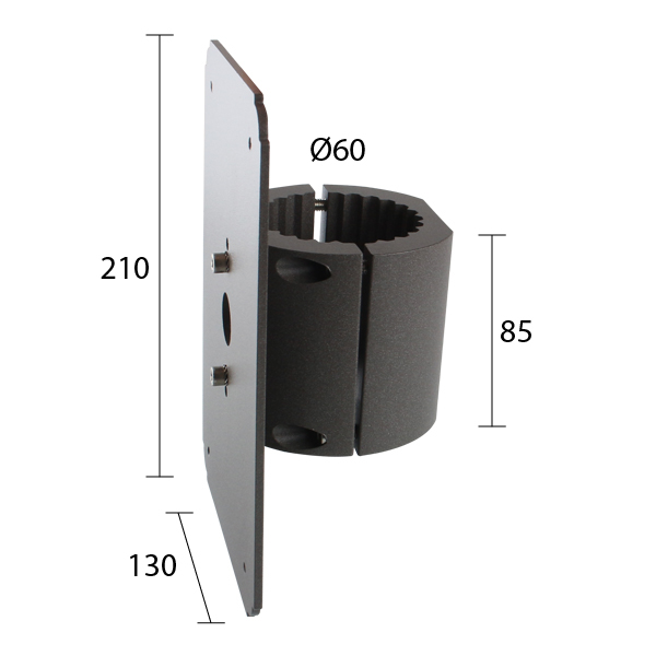 Torre wrap around pole bracket Ø 60mm