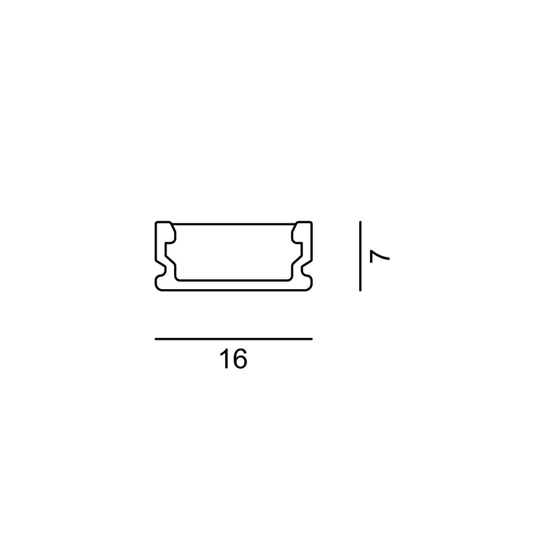 Linear 0W Flat 16x7x500