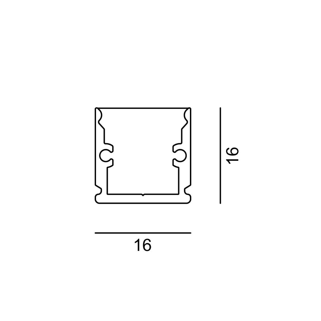 Linear 0W 16x16x500