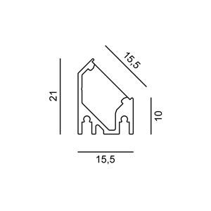 Linear 0W AS 33x15.5x500