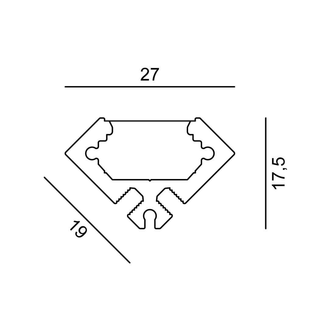 Linear 0W Angular 27x17x500