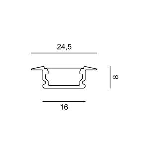 Linear 0R Flat 24.5x7x500