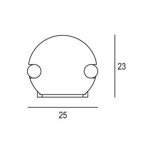 Linear 1W 25x23x500